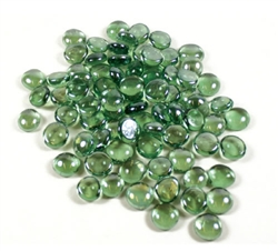 Glass Flat Marbles, Green