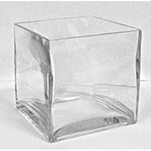 Glass Cube Vase 6 X 6