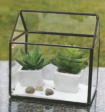 Geometric Glass Terrarium A Frame