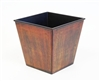 Short Rustic Centerpiece Container, Rust