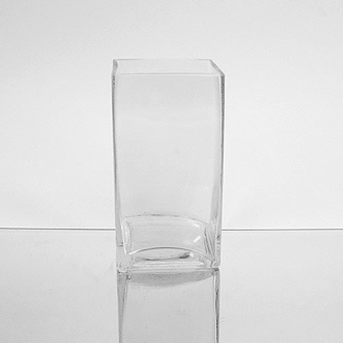 Glass Rectangular Vase 6 X 3