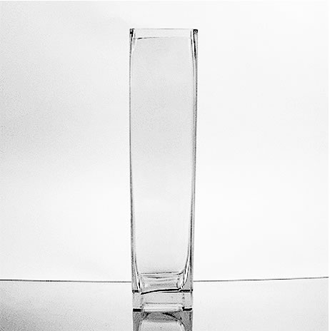 Glass Rectangular Vase 14 X 3