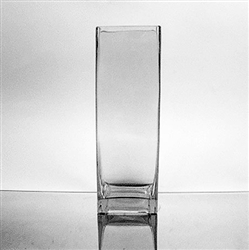 "Glass Rectangular Vase,  12"" x 4"""
