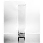 "Glass Rectangular Vase,  18"" x 4"""