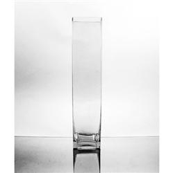 Glass Rectangular Vase 18 Quot X 4 Quot