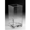 "Glass Rectangular Vase,  12"" x 6"""
