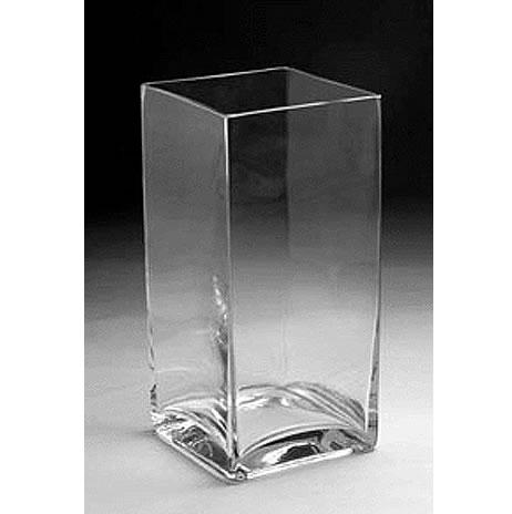 Glass Rectangular Vase 12 X 6