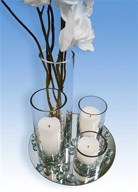 Cylinder Vase Centerpiece Kit, 6 Pieces