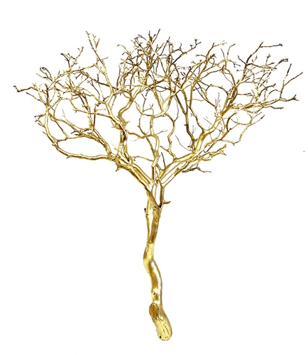 Astounding Gold Metallic Manzanita Branches 24 Tall Beutiful Home Inspiration Xortanetmahrainfo