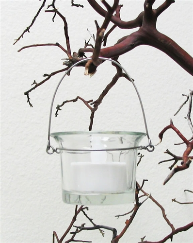 Lovely Hanging Votive Candle Holders, Flare Style, Clear