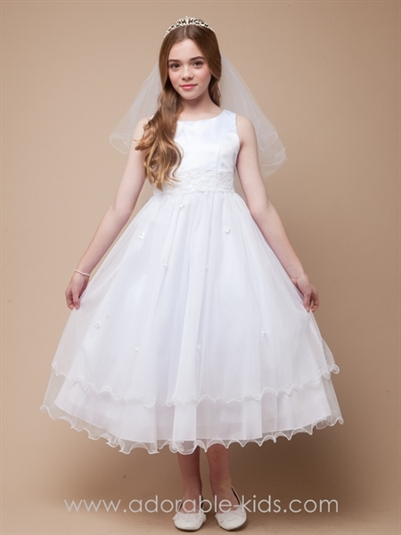Brigette White Tulle Dress for First Communion