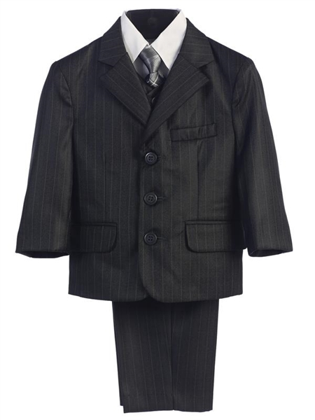 Charlie Boys 5pc Suit - BLACK