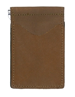 chestnut brown back saver wallet