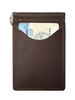 top grain brown leather wallet