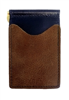 black back saver wallet with brown pockets