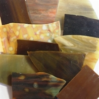 Assorted Brown Stained Glass