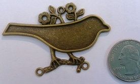 Antique Bronze Bird Pendant Blanks