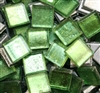 Crystal Metallic Tiles..Green..3/8""