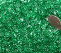 Transparent Emerald Green Coarse Frit