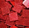 "Glitter Tiles..3/4""..Red Confetti"