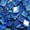 "Glitter Tiles..3/8""..Dark Blue Confetti"