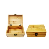 NeverXhale Bamboo Stash Storage Box  Small