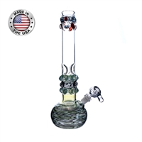 "18"" Glass On Glass Water Pipe"