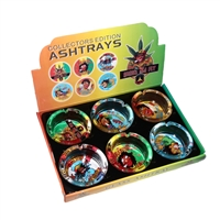 Glass Ashtray with Art Work 4''
