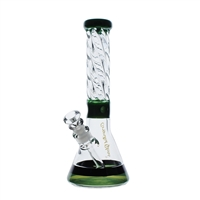 C2133 Crystal Glass Water Pipe 14''