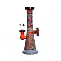 C1314 Crystal Glass Water Pipe 9""