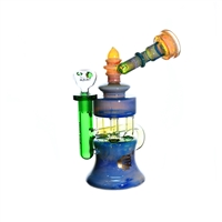 C1321 Crystal Glass Recycler  9''