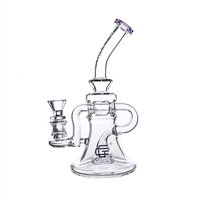 C6122 Crystal Glass  Clear Recycler 8''