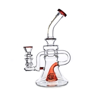 C6122 Crystal Glass  Recycler 8''
