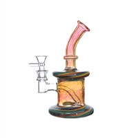 C6130 Crystal Glass Water Pipe 7.5""