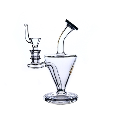 C6152 Crystal Glass Water Pipe 7.5''