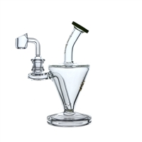C6152QB Crystal Glass Water Pipe 7.5'' Rig