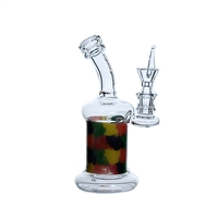C6191 Crystal Glass Water Pipe 7''