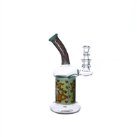 C6212 Crystal Glass Water Pipe 7.5''