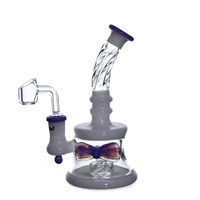 C6217B-QB Crystal Glass Bow Rig 7''