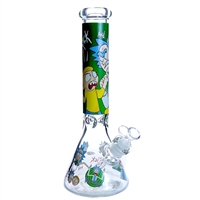 14'' 7MM Themed Beaker Waterpipe
