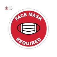 "13'' PPE  Floor Sign ""FACE MASK REQUIRED"""