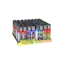 Clipper Lighters Hippie Display-48