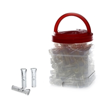 Glass Tips - Crutches 100 Count Jar
