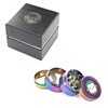 Green Monkey 4 Pieces 1.5'' Zinc  Grinder Rainbow