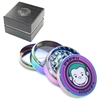 Green Monkey 4 Pieces 2.5'' Zinc  Grinder Rainbow