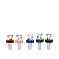 Gyro Funnel Shaped Heavy  Colored Bowl 14mm