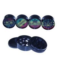 3 Parts Black Color 2'' Grinder With Sticker