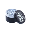 BOB MARLEY 4 PIECE BLACK METAL GRINDER 50MM