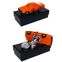 Classic Orange Car  Zinc Grinder 3 Piece With Screen