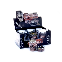3 Parts Zinc King Skull Grinder Display (6 pcs)